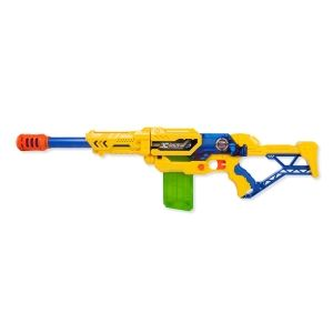 Бластер X-SHOT Максимальная атака (Max Attack) желтый, 12п