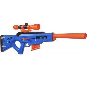 NERF Фортнайт Снайперка синяя (Bolt Action) 12п, 3 мишени