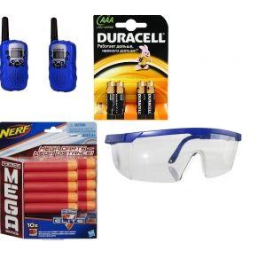 Набор Новобранец Мега (10 стрел Мега + рации Baofeng TF-3 + 4AAA + 1 очки без упаковки)