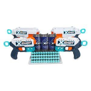 Набор бластеров X-SHOT Combo (Reflex and Kickback) 4 бластера, 3 мишени , 48п