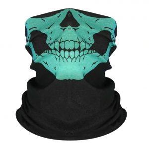 Маска-бандана череп зеленый