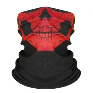 Маска-бандана череп красный