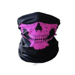 Маска-бандана череп розовый