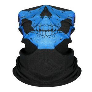 Маска-бандана череп синий