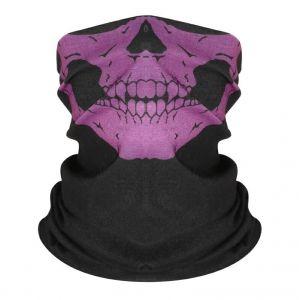 Маска-бандана череп фиолетовый