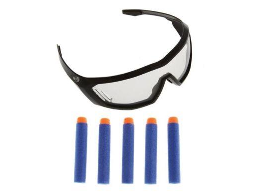 Защитные очки агента Нерф и 5 стрел