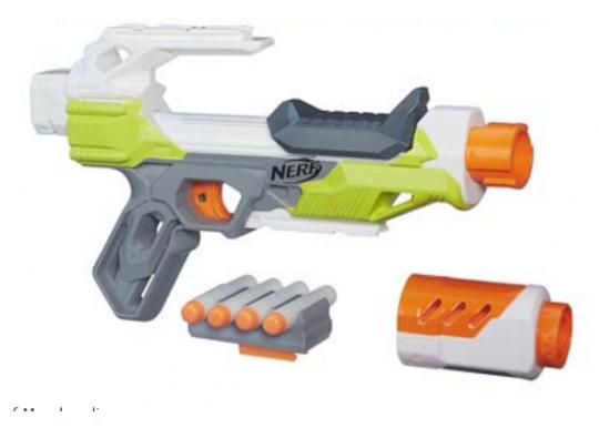 Бластер Nerf Modulus IonFire - Пистолет Модулус с удлинителем ствола